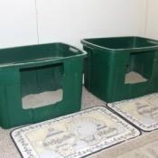 Homemade Deep Litter Box