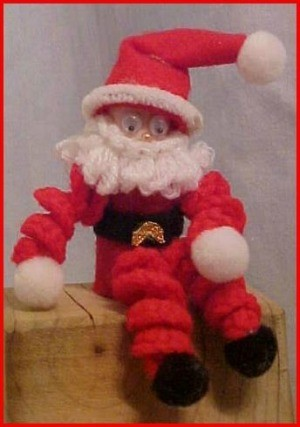 Crochet Santa Decorations