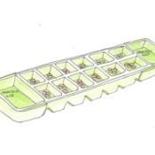 Mancala game board from an egg carton