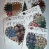Quilted look fabric pins.