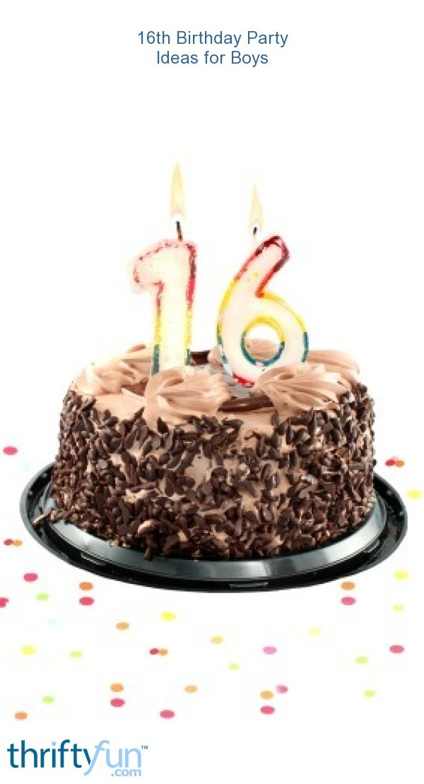 16th Birthday Party Ideas For Boys