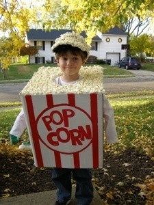 A box of popcorn Halloween costume.