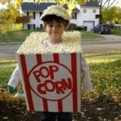 A box of popcorn Halloween costume.
