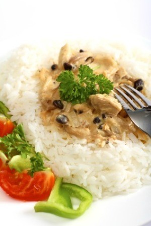 Leftover Rice With Turkey Mushroom Sauce