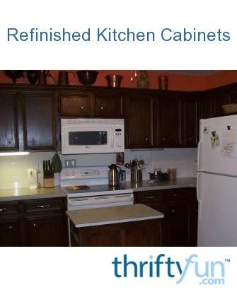 Refinishing Kitchen Cabinets | ThriftyFun