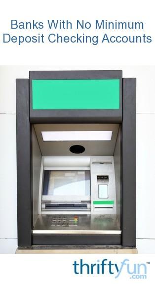 No Minimum Deposit