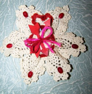 A potpourri filled scented doily