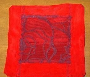 sachet craft in process