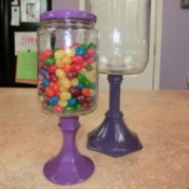 Candy Jar Made from Pickle Jar