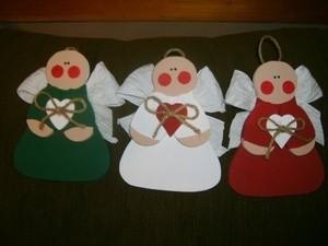 Three cute paper angels.