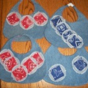 Reversible Denim Baby Bib