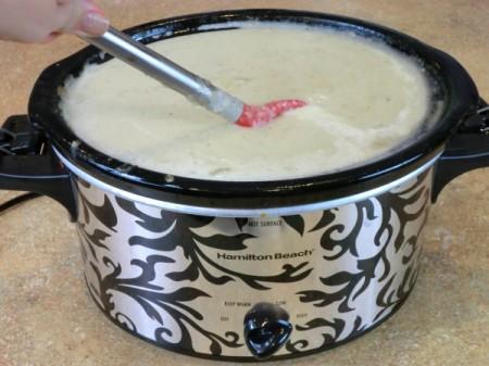 mixing in cream