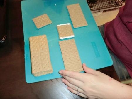 Tiny Graham Cracker Houses