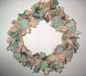 Coat Hanger Cloth Wreath