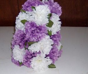 Silk flowers as a centerpiece