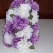 Silk flowers as a centerpiece