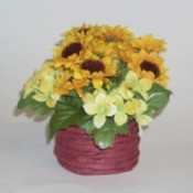 Quick Flowers in a Basket
