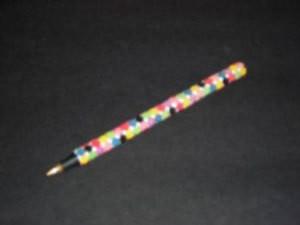 Decorated pen.
