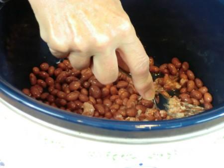 mash beans