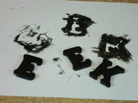 painting wooden letters