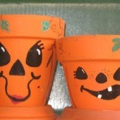 Clay Pot Jack-o-Lanterns