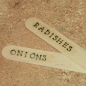 Popsicle Stick Plant Markers