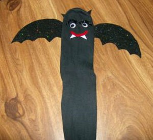 Halloween Bat Sock Puppet