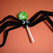 Tootsie Roll spider.