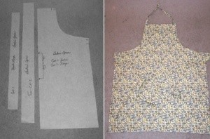 A pattern for a simple baker's apron.