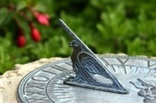 A classic bronze sundial