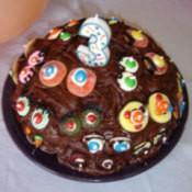 Googly eye cake