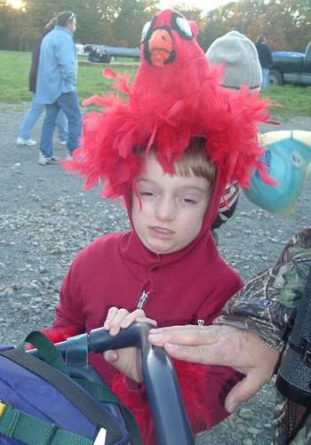 Cardinal costume.