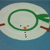 Flat Snowman Craft