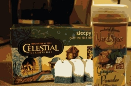 Ingredients for decongestant tea.
