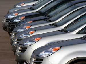 A row of identical cars
