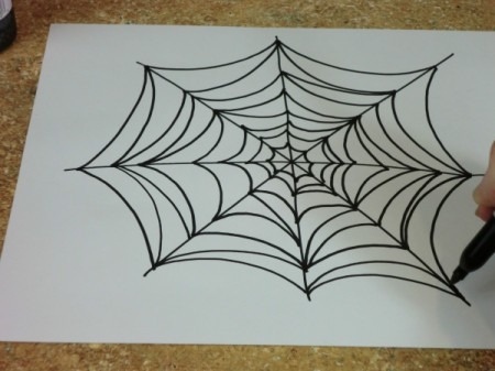draw spiderweb