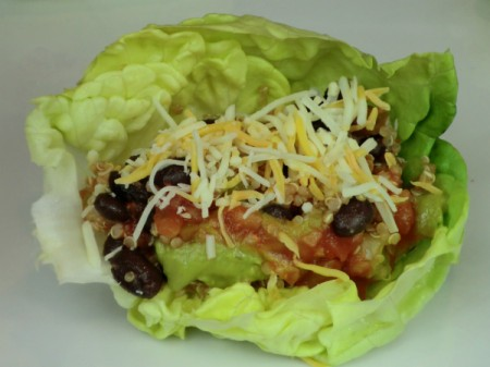 lettuce wrap with cheese