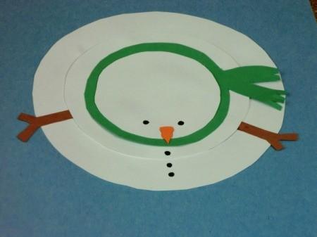 Paper Snowman Crafts