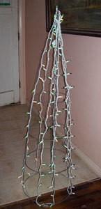 Christmas Tree as a tomato cage