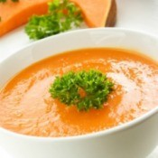 Photo of pumpkin soup.