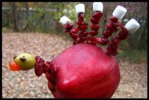 Cute Edible Apple Turkey