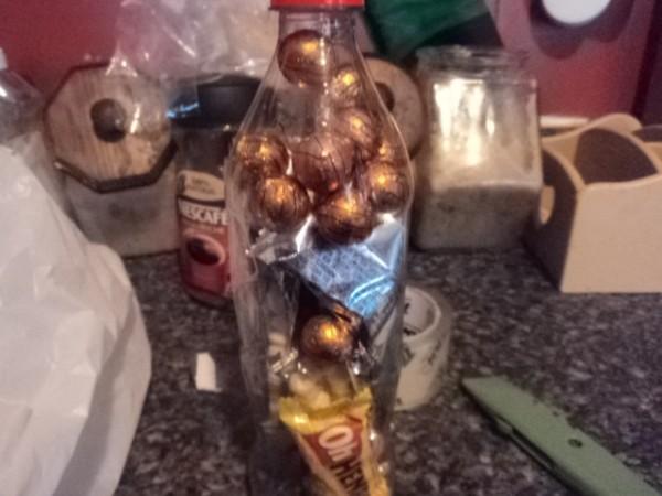 Plastic Soda Bottles as Giftwrap