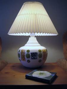 Decorated Ceramic Lamp