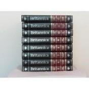 Stack of encyclopedias.
