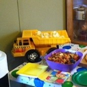 Use Toy Dump Truck For Serving Chips