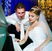 Bride and Groom Planning Wedding Music