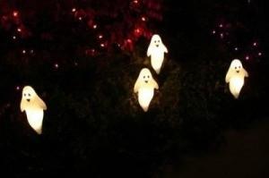 Spooky Halloween Ghosts Outside