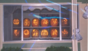 Beautifully carved pumpkins