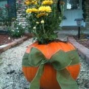 Making Pumpkin Planters