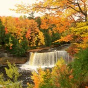 Falls with beautiful fall color.